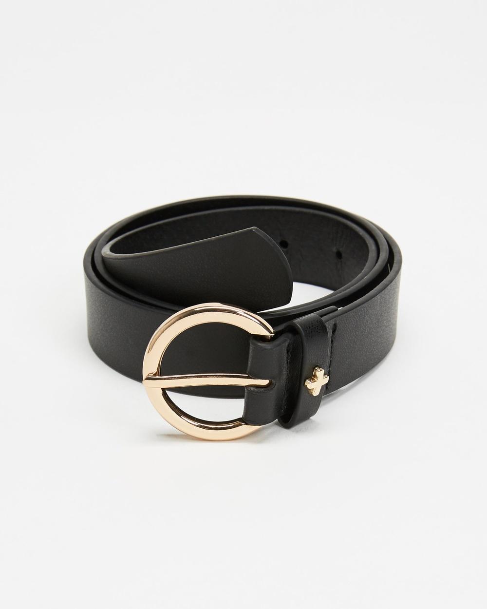 PETA AND JAIN Sinatra Belts Black & Gold