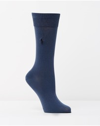 Polo Ralph Lauren - Single Egyptian Cotton Flat Knit Socks