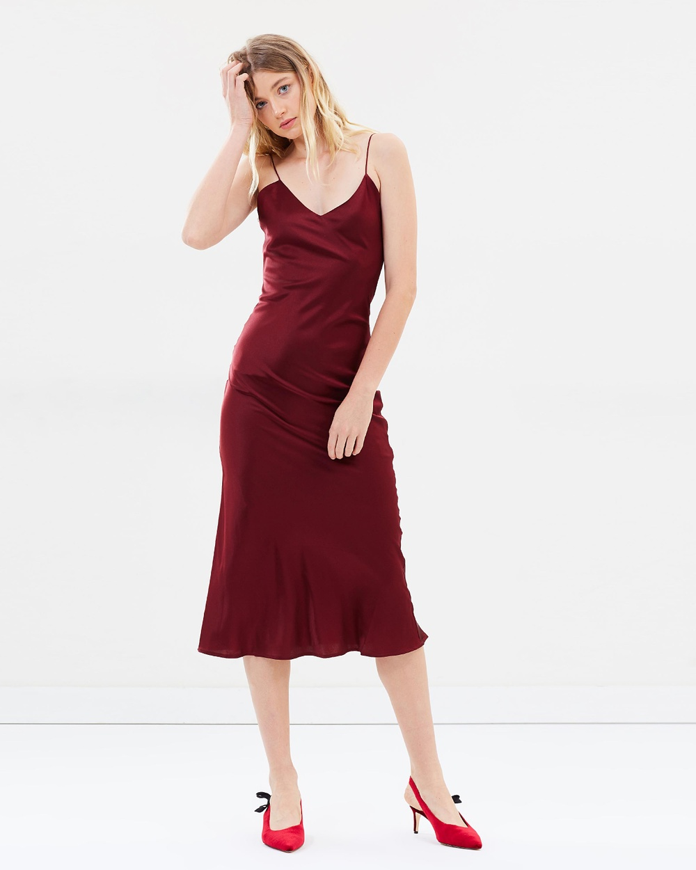 Hansen & Gretel Demi Silk Dress Dresses Wine Demi Silk Dress