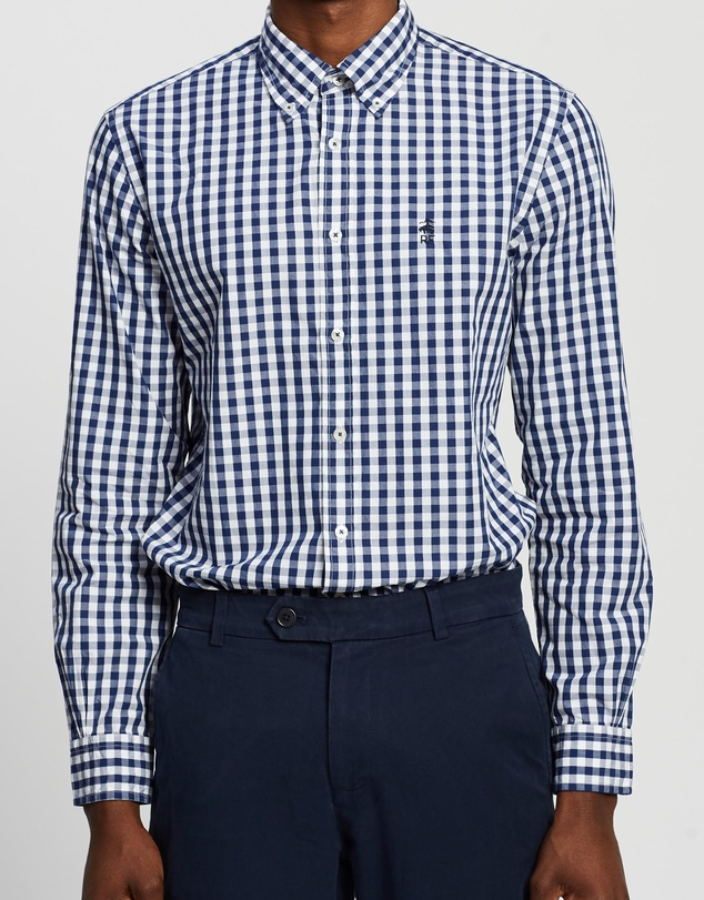 BROOKS BROTHERS - Red Fleece Gingham Shirt