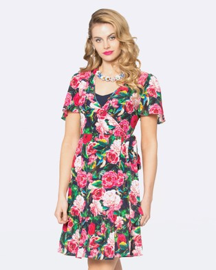 Alannah Hill – Bird Amongst The Rose Dress Navy/Multi