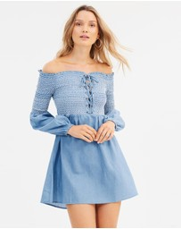 MINKPINK - Chambray Smocked Tunic
