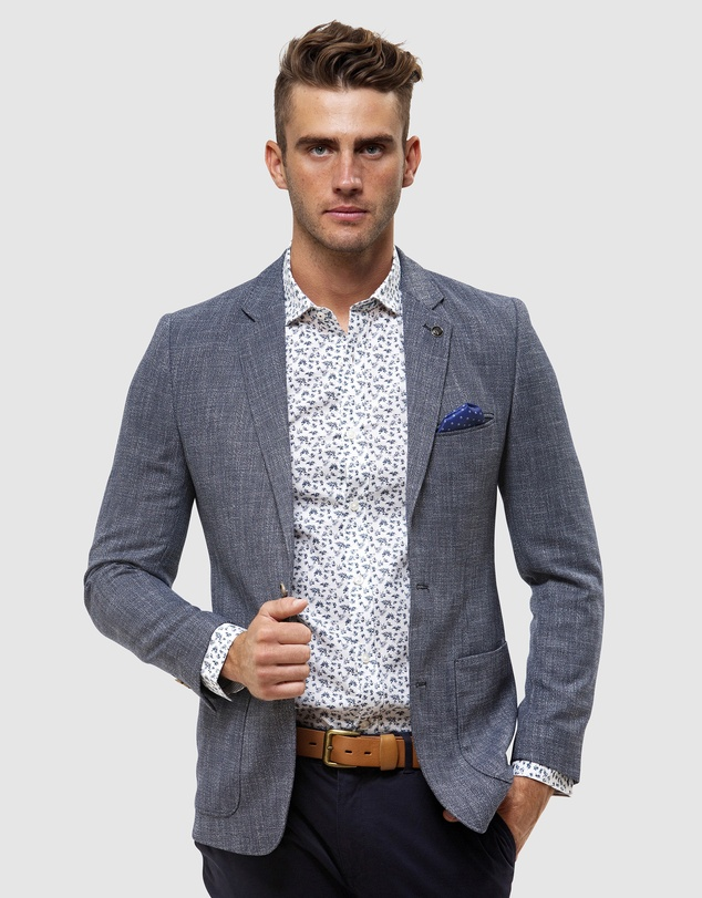 Brooksfield - Two Tone Crosshatch Blazer