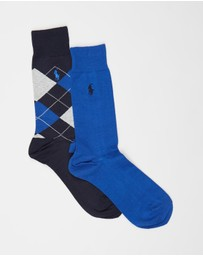 Polo Ralph Lauren - Lightweight Cotton Crew Socks 2-Pack