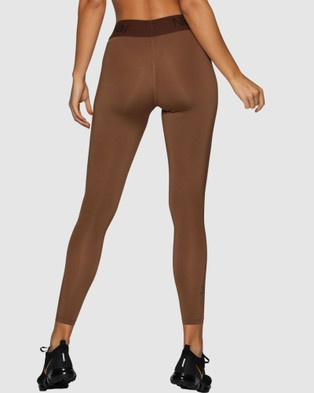 Nicky Kay FitGlam Compression Tights - 7/8 Tights (Brown)