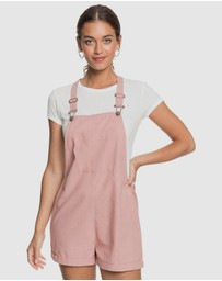 Roxy - Womens Somebody New Linen Pinafore Playsuit