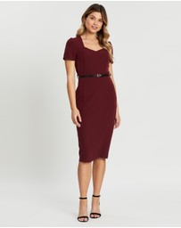 Dorothy Perkins - ​Damson Belted Dress