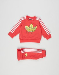 adidas Originals - Graphic Trefoil Crew Set - Babies-Kids