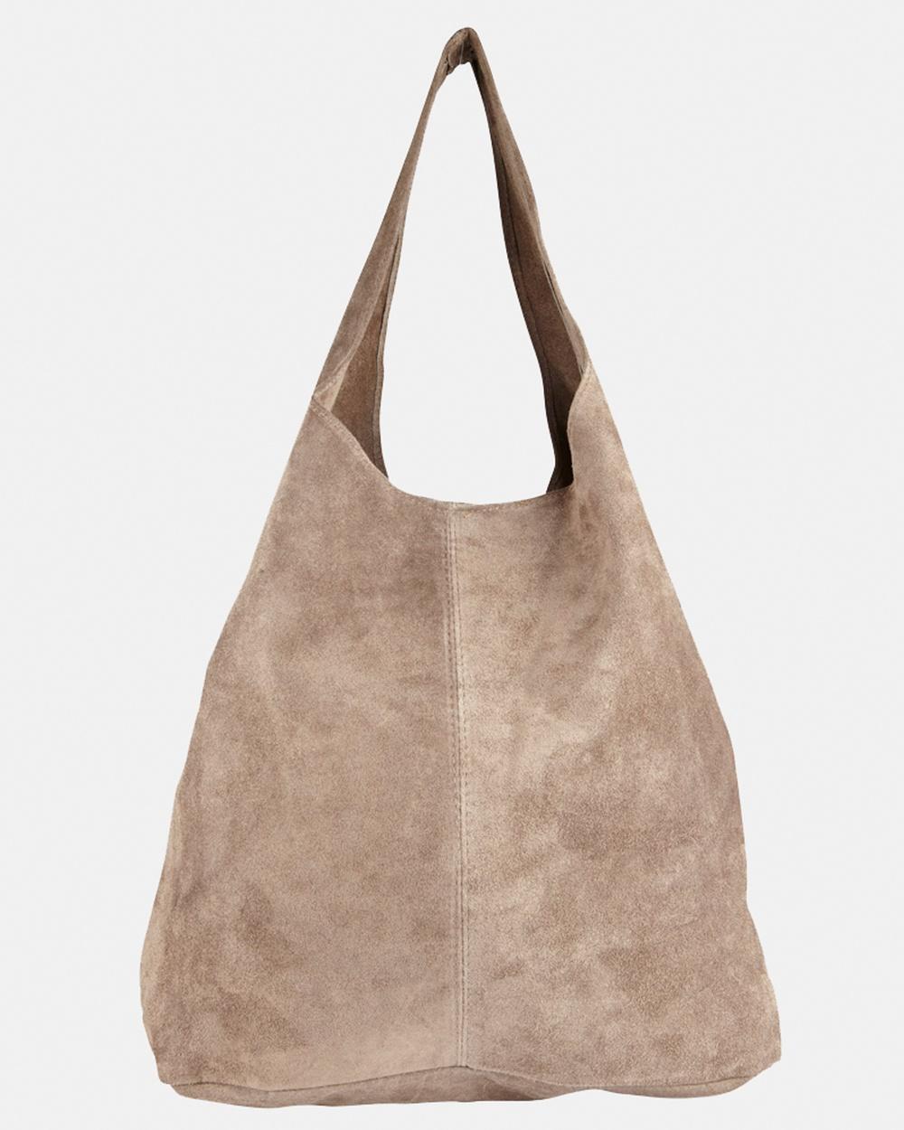 Marlafiji Wendy Hobo Beach Bags Taupe Leather bags Australia