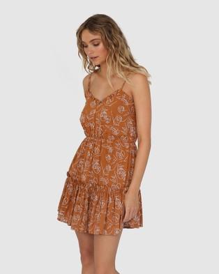 Lost in Lunar  Madelyn Mini Dress - Dresses (Leaf)