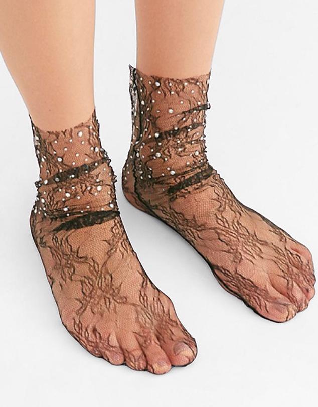 Women Crystal Lace Socks
