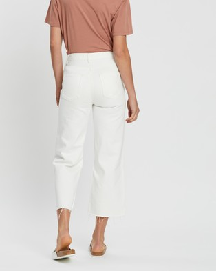 Assembly Label High Waist Flare Jeans - Crop (Vintage White)