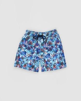 Aqua Blu Kids Sebastian Boardshorts Shorts Blue