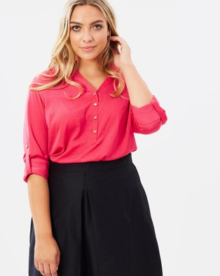 Alison Dominy – Annie Blouse Pink