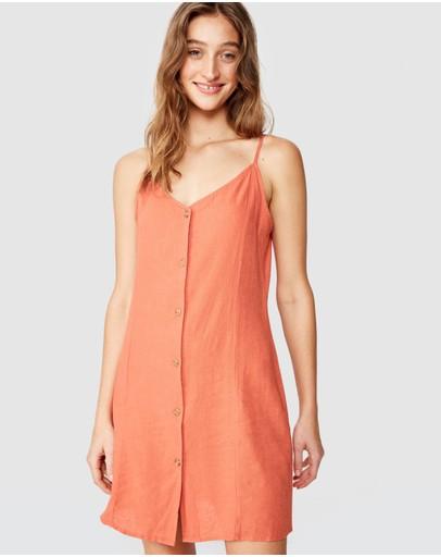 Cotton On Woven Maisy Strappy Mini Dress Washed Apricot Brandy