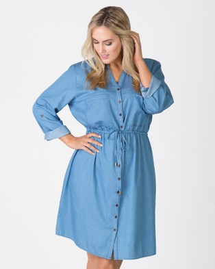 Love Your Wardrobe – Chambray Shirt Dress Indigo