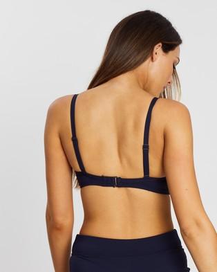 Sea Level Australia Cross Front Moulded Underwire Bra - Bikini Tops (Night Sky)