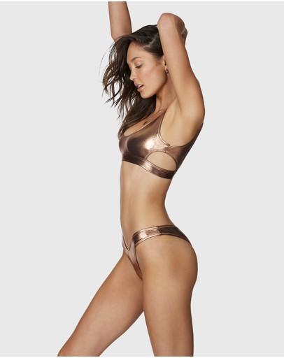 Bond-eye Swimwear Heatwave Crop Bronze Records