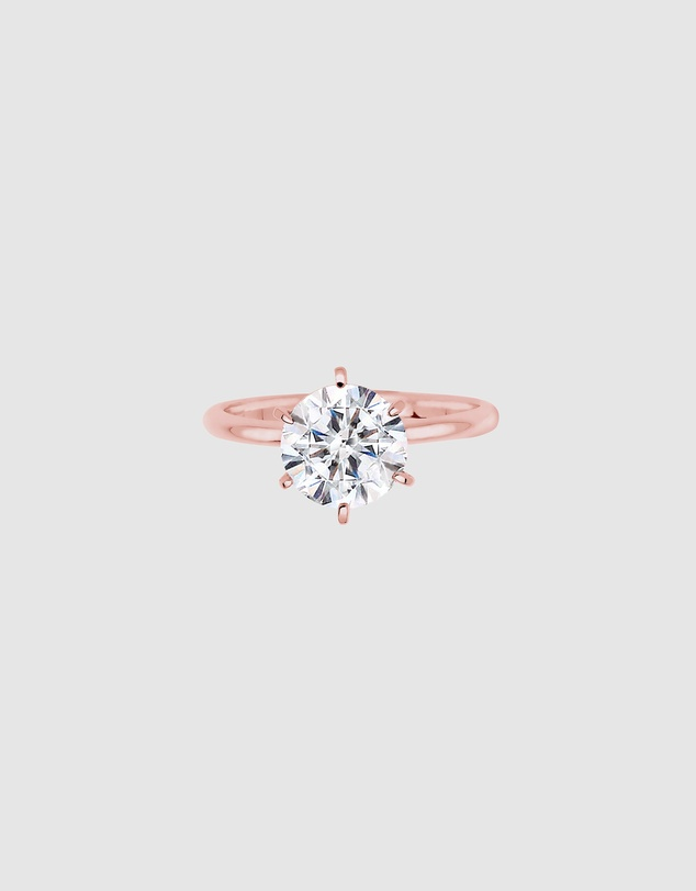 Women Ring 925 Sterling Silver Rose Gold-Plated Crystal