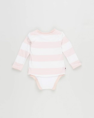 Tommy Hilfiger - Baby Tommy 2 Piece Tee Body L S - Longsleeve Rompers (Delicate Pink) Baby Tommy 2 Piece Tee Body L-S