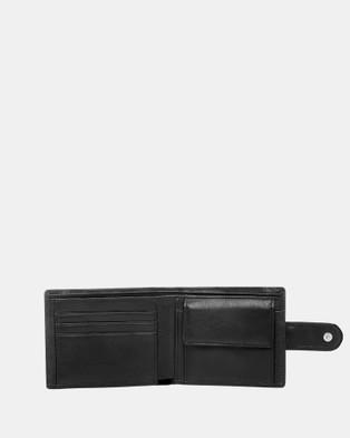 Buckle Shawn RFID Leather Wallet - Wallets (Black)