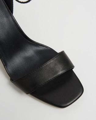 Atmos&Here Kim Leather Heels - Heels (Black Leather)