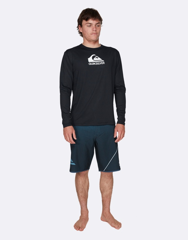 Quiksilver - Mens Solid Streak Long Sleeve UPF 50 Rash Vest