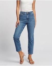 ONLY - Emily High-Waisted Straight Jeans