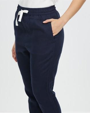 Assembly Label Anya Linen Pants - Pants (True Navy)