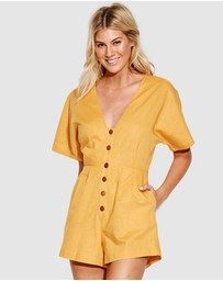 Seafolly - Cut Copy Button Up Playsuit