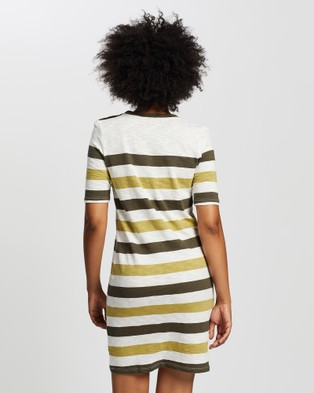 Marcs Noosa Stripe Dress - Printed Dresses (KHAKI IVOR)