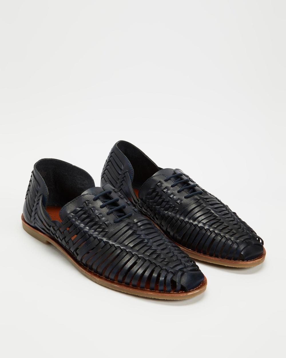 Staple Superior Apollo Woven Huarache Casual Shoes Navy