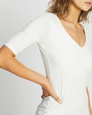 Forcast Lana Elbow Sleeve Tee - T-Shirts & Singlets (Ivory)