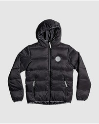 DC Shoes - Youth Crewkerne Water Resistant Hooded Puffer Jacket
