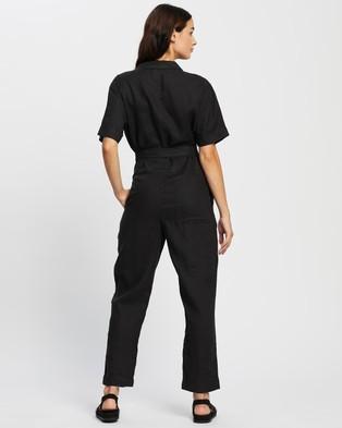 Assembly Label Blair Linen Boilersuit - Jumpsuits & Playsuits (Black)
