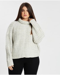 Atmos&Here Curvy - Marie Wool-Blend Ribbed Crop Jumper