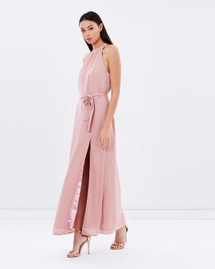 Miss Holly – Isla Blush Maxi Dress – Bridesmaid Dresses (Pink)