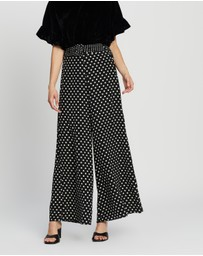 Whistles - Spot Silk Palazzo Trousers