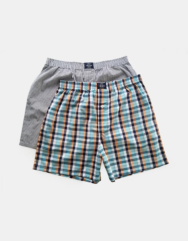 Men Multi-Coloured Boxer Shorts 2-Pack