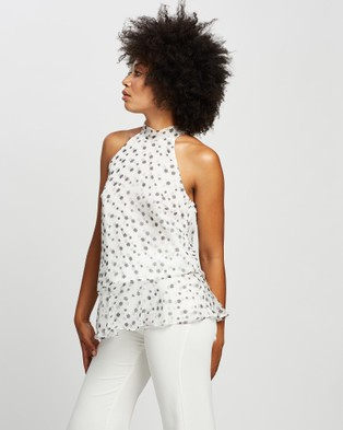 Honey and Beau Be Free Top - Tops (White Print)