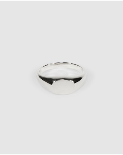 Cameron Studio Type 001 Classic Signet Ring Sterling Silver