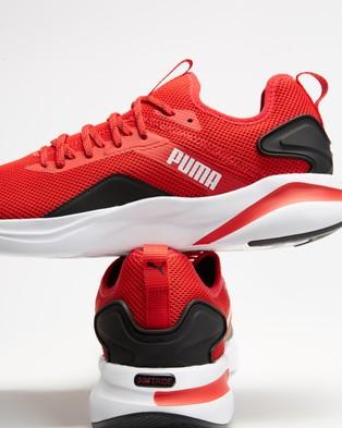 Puma Softride Rift Knit   Men's - Performance Shoes (High Risk Red & Puma Black)