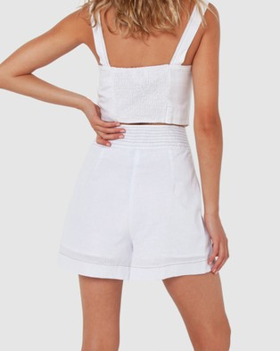 Madison The Label Vienna Shorts - High-Waisted (White)