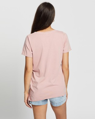 DRICOPER DENIM Yenny V Neck Tee - T-Shirts & Singlets (Dusty Pink )