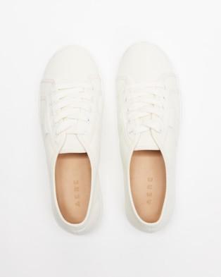 AERE Organic Cotton Essential Sneakers - Sneakers (White Organic Cotton Canvas)