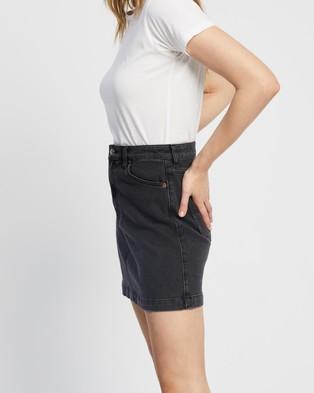 Riders by Lee Girlfriend Skirt - Denim skirts (80s Black)