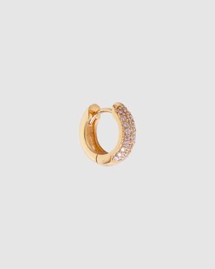 FAIRLEY - Crystal Pave Huggies Jewellery (Gold)