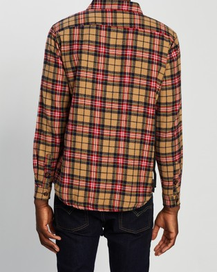 Commune LS Flannel Shirt - Casual shirts (Brown)