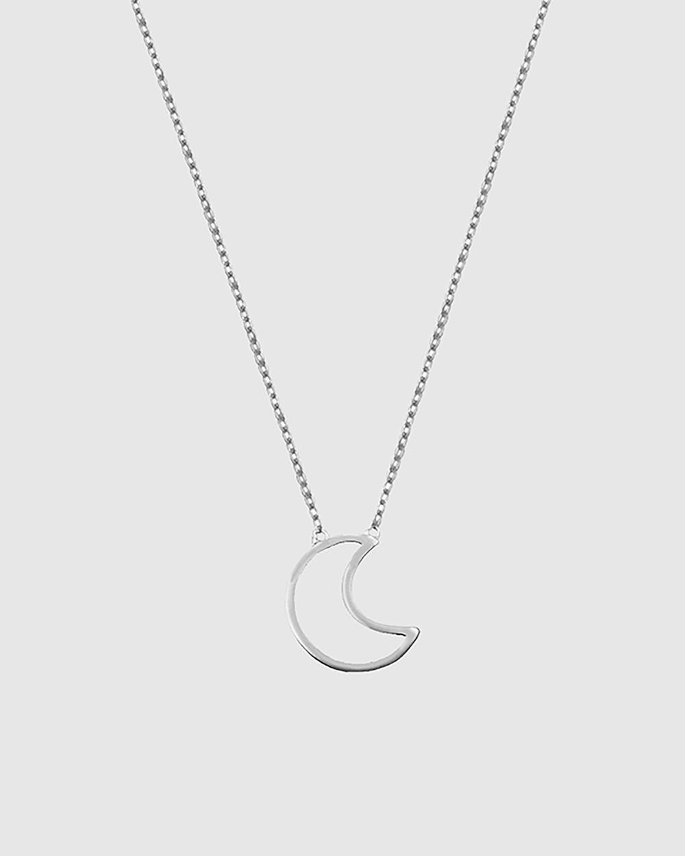 Secret Sisterhood Moon Necklace Jewellery Silver