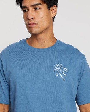 Patagonia How to Help Organic T Shirt   Men's - T-Shirts & Singlets (Pigeon Blue)